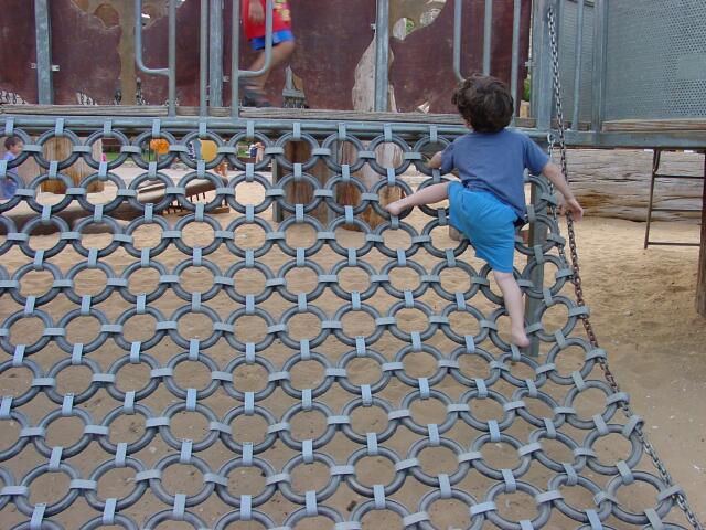 a climbing net