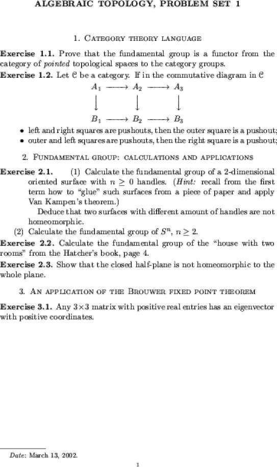Dror Bar-Natan:Classes:2001-02:Algebraic Topology
