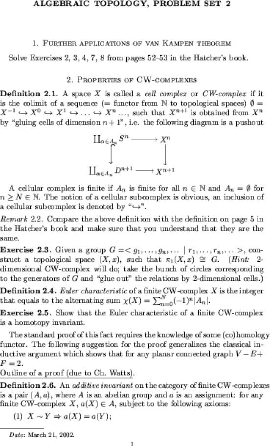 hatcher algebraic topology homework solutions