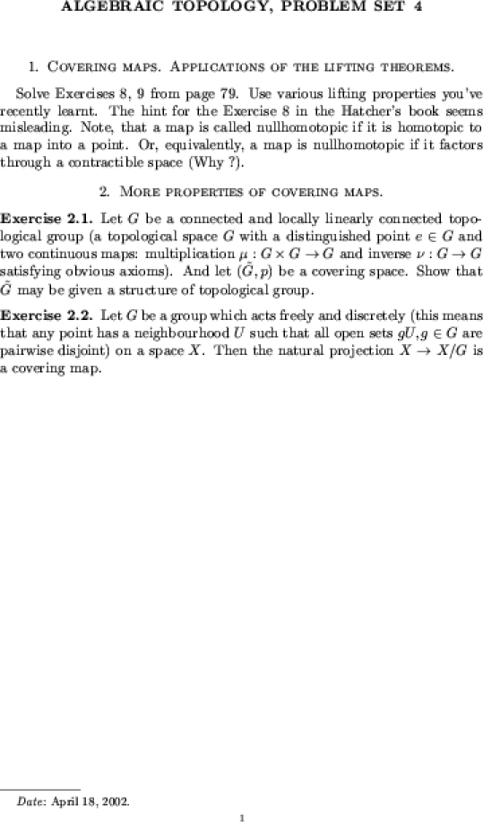 hatcher algebraic topology homework solutions