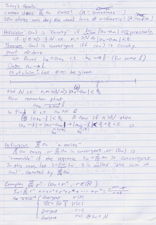 Dror Bar-Natan: Classes: 2004-05: Math 157 - Analysis I